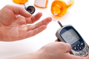 Diabetic blood glucose levels