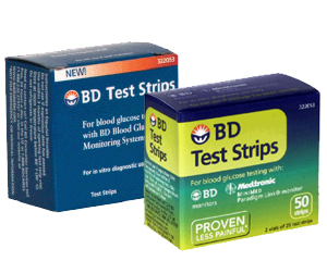 BD Glucose Test Strips
