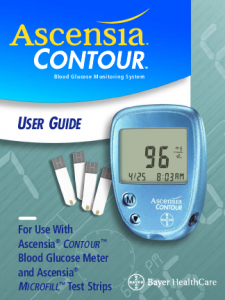 ascensia blood glucose monitor
